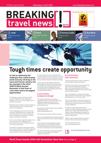 Breaking Travel News Special Edition - ITB Berlin 2009 Day 1