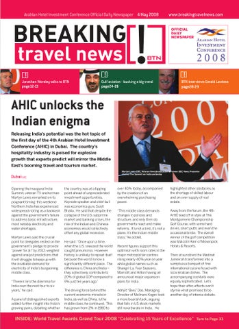 Breaking Travel News Special Edition - AHIC 2008 Day 1