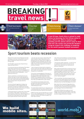 Breaking Travel News Special Edition - ITB Berlin 2010 Day 2