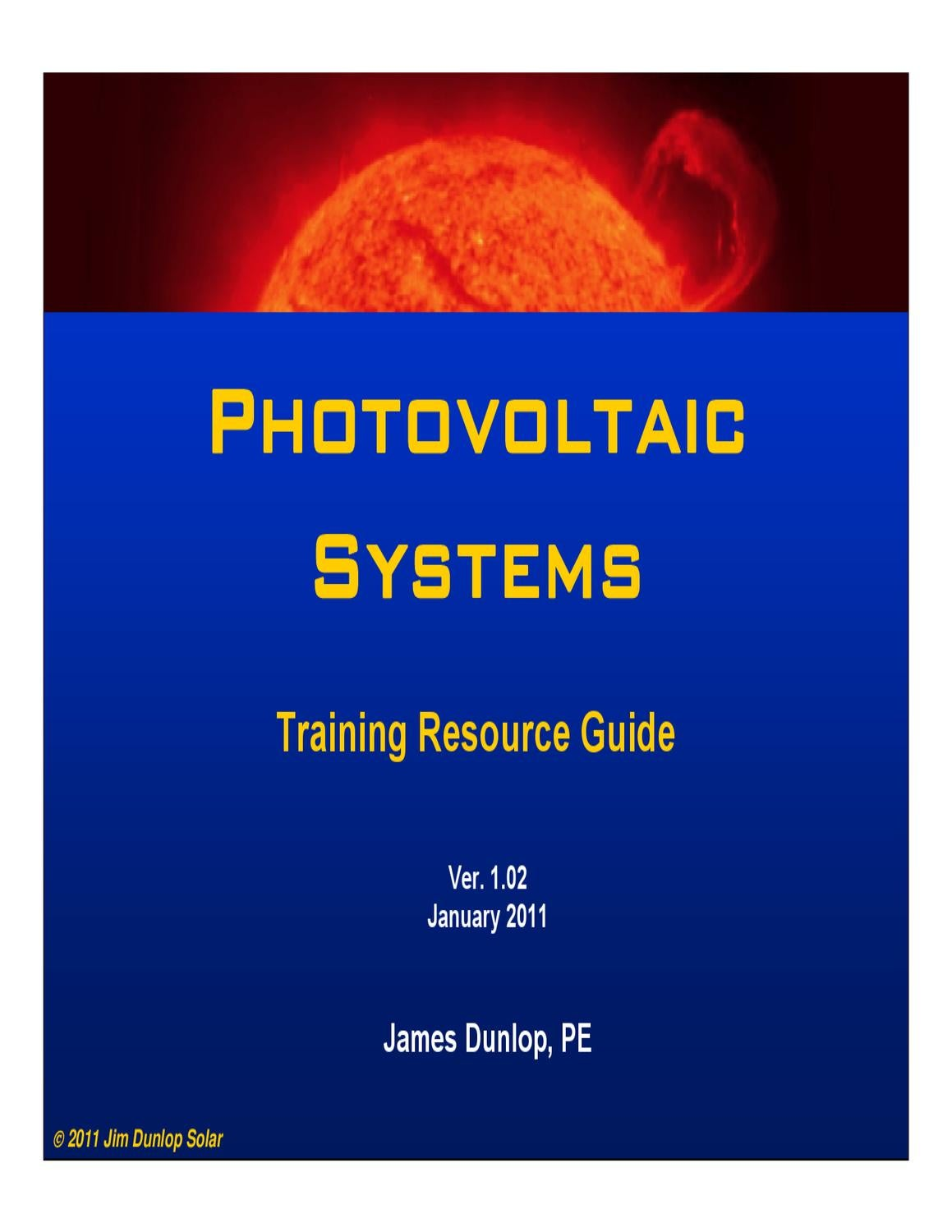 By James P. Dunlop - Photovoltaic Systems (3rd Edition) ( Photovoltaic systems by jim dunlap