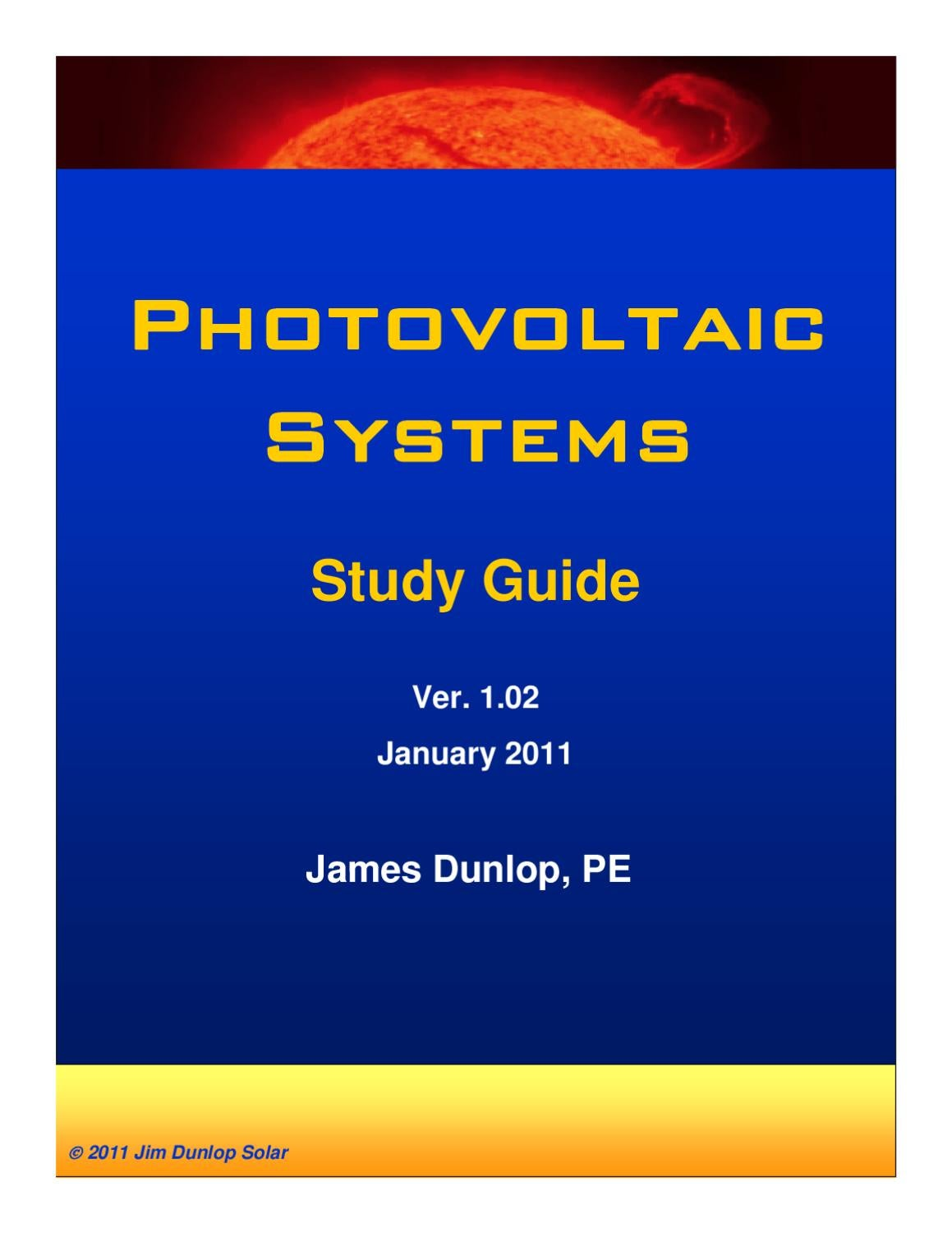 Photovoltaic systems by jim dunlap