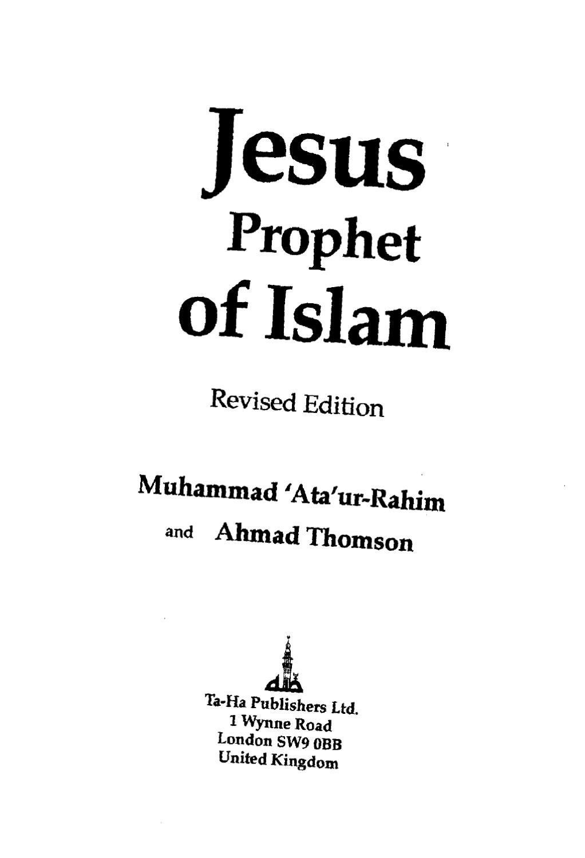 vergleich jesus mohammed