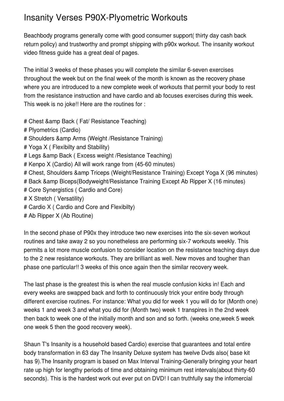 P90x Plyometrics Workout Routine | sport1stfuture org