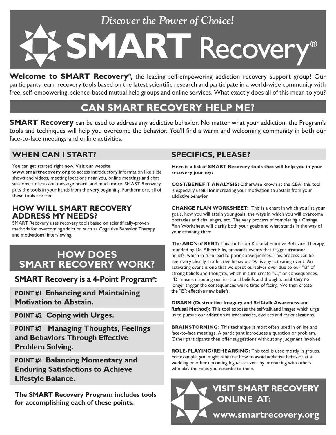Therapy Worksheets Smart Recovery Worksheets Oukasfo