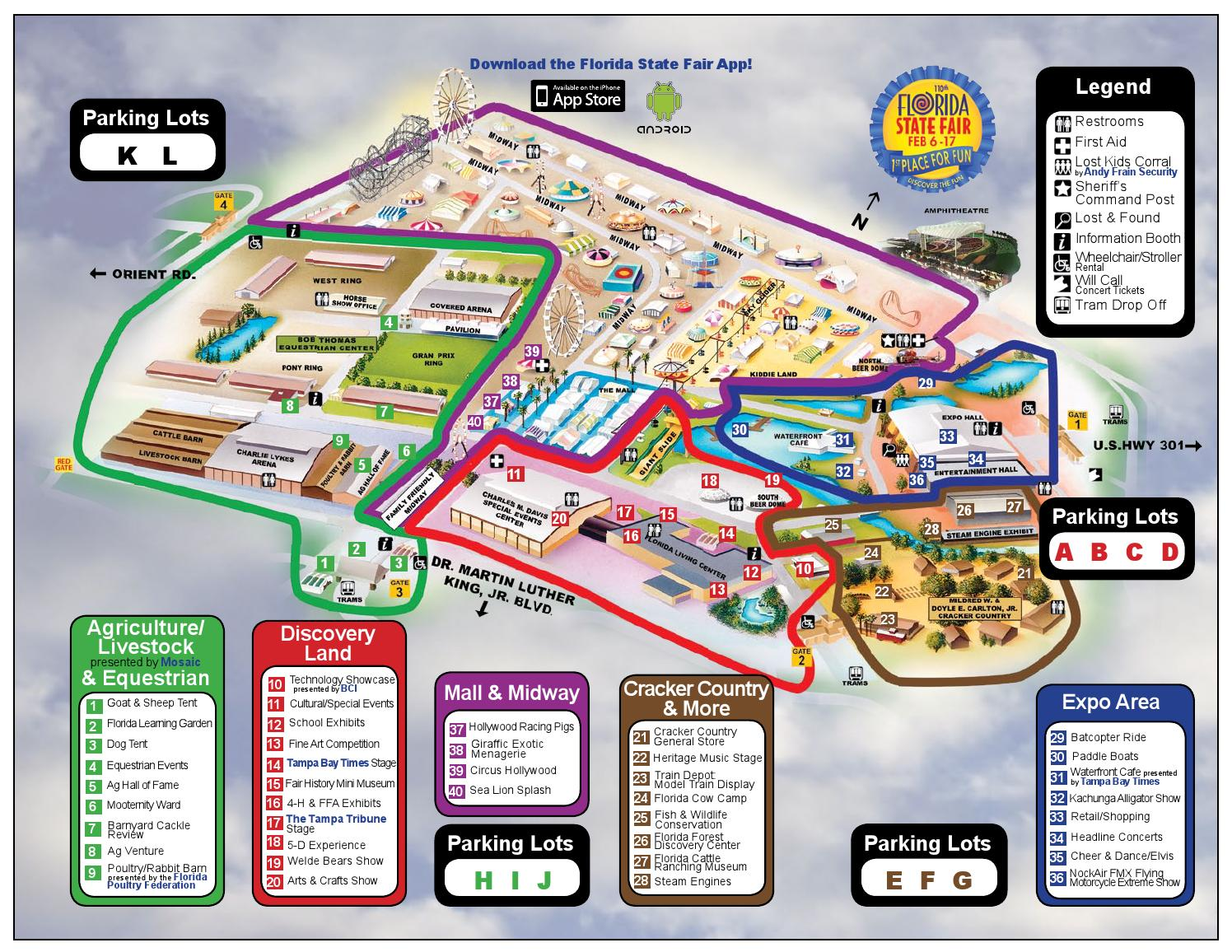 2014 Florida State Fair Map By Wfla Newschannel8 Issuu