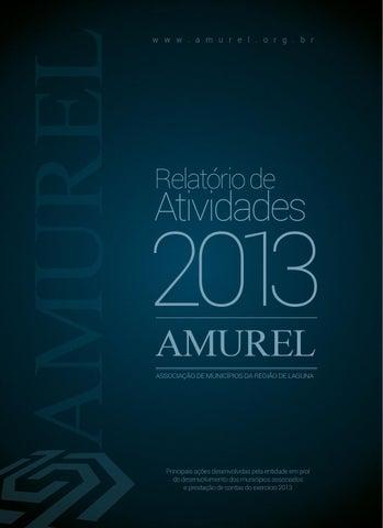 Relatório de Atividades AMUREL - 2013