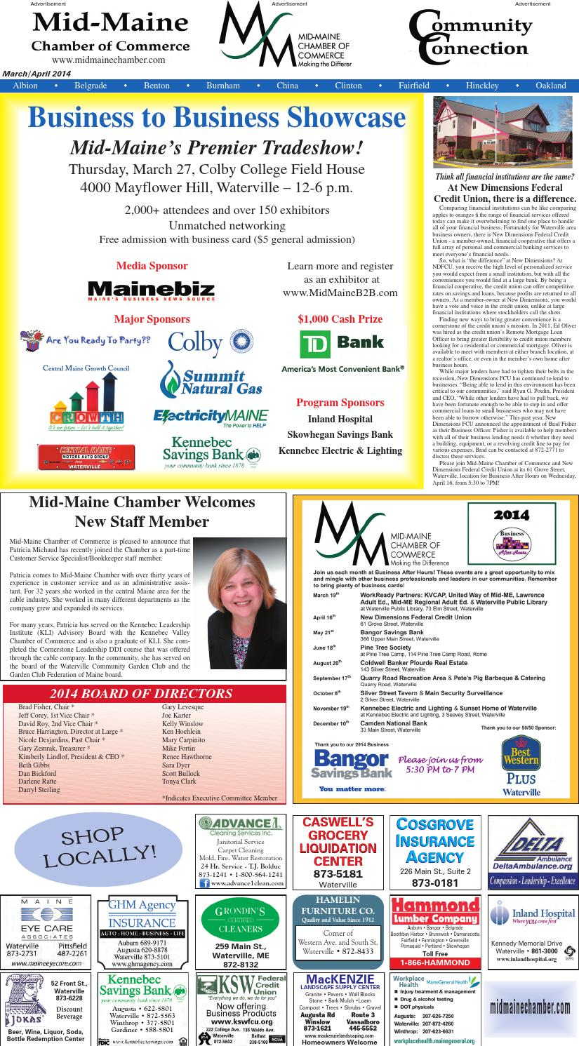 Page March April Community Connection Mid Maine Chamber