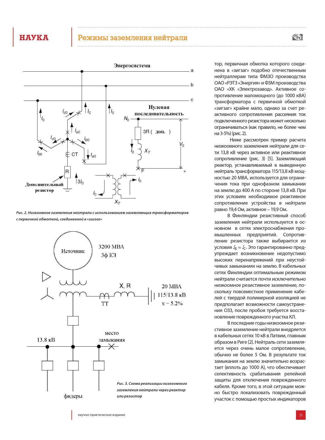 Схема подключения трансформатор нулевой последовательности