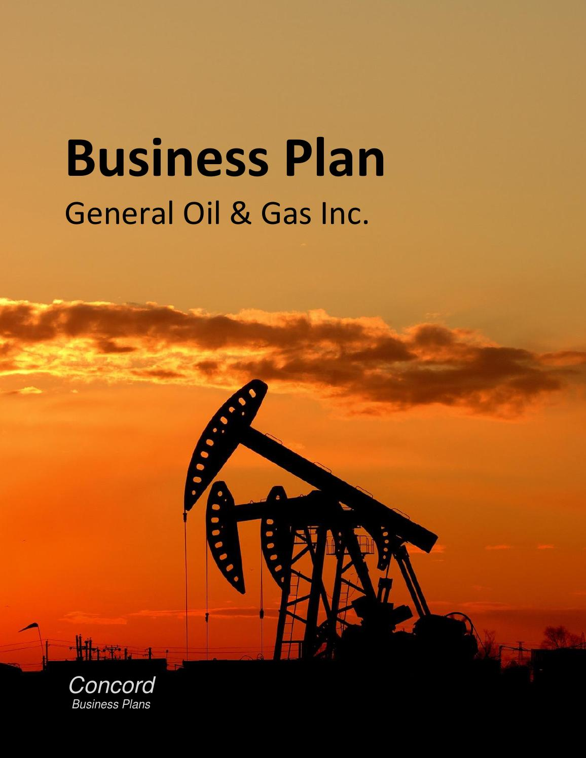buisness plan of oil company A service company business plan can provide the owner-manager or prospective owner-manager of a service firm with a pathway to profit this guide is designed to help an owner-manager in drawing up a business plan.