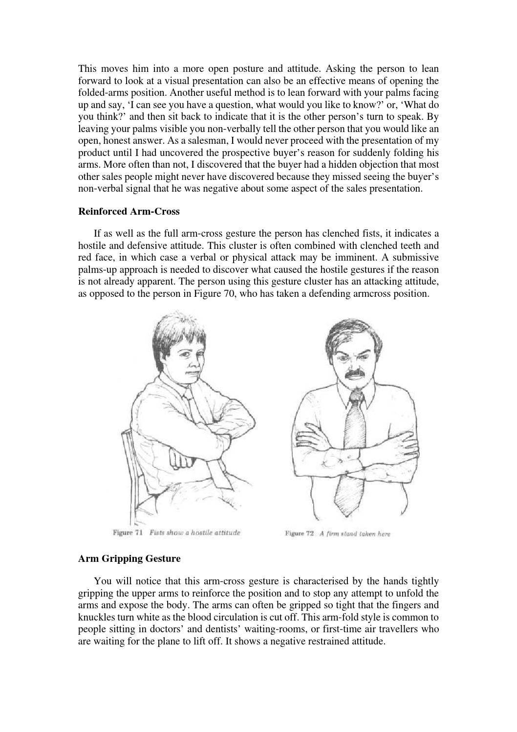Body Language - What Arm Gestures Convey