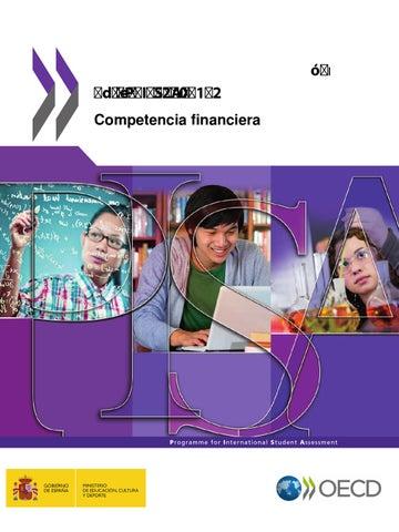 Marcos y pruebas de evaluación                                     de pisa 2012 competencia financiera