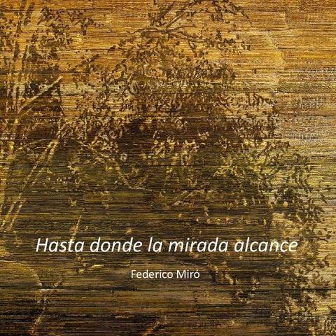 Hasta Donde la mirada Alcance de Federico Miró