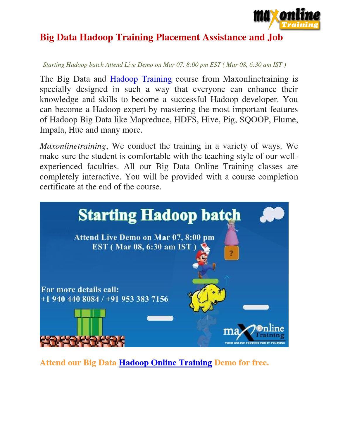 Big Data Hadoop Sample Resume Live Online Training of - mandegar.info
