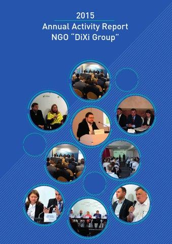 "2015 Annual Activity Report NGO ""DiXi Group"" by Ukrainian Energy ..."