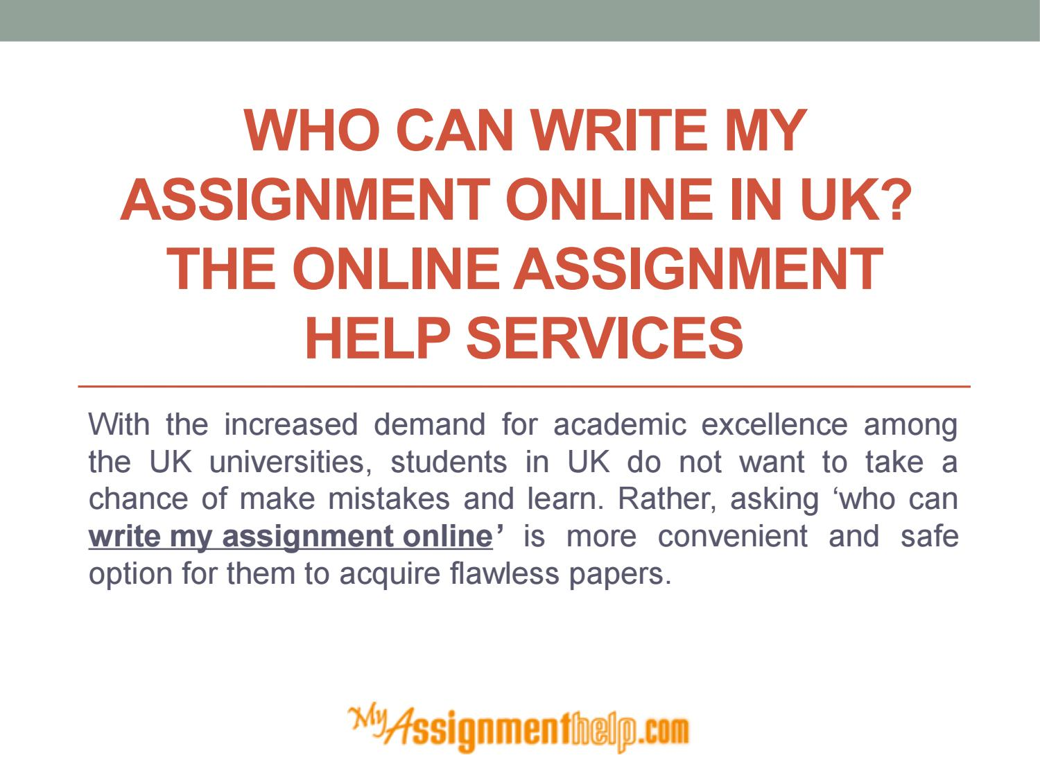 who am i writing assignment Get your paper written by a vetted academic writer with 15% off complete confidentiality zero plagiarism affordable pricing turnaround from 3 hours.