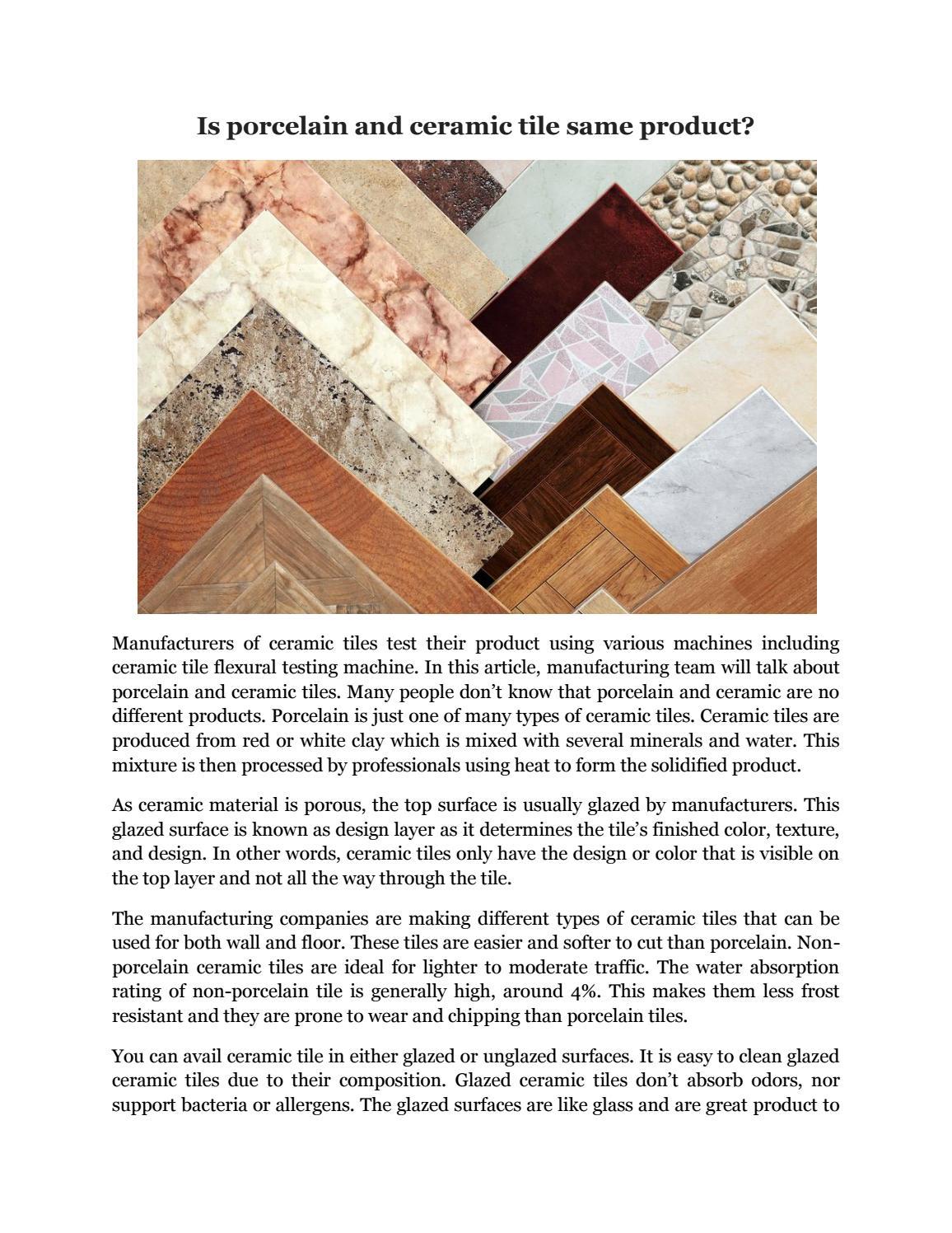 Is Porcelain Tile Better Than Ceramic Tile Aunt Suefo