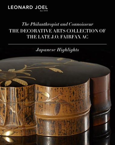 Japanese Highlights - The Late J.O. Fairfax AC Collection
