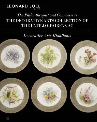 Decorative Arts Highlights - The Late J.O. Fairfax AC Collection