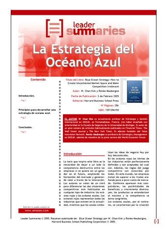 Estrategia Oceano Azul Epub