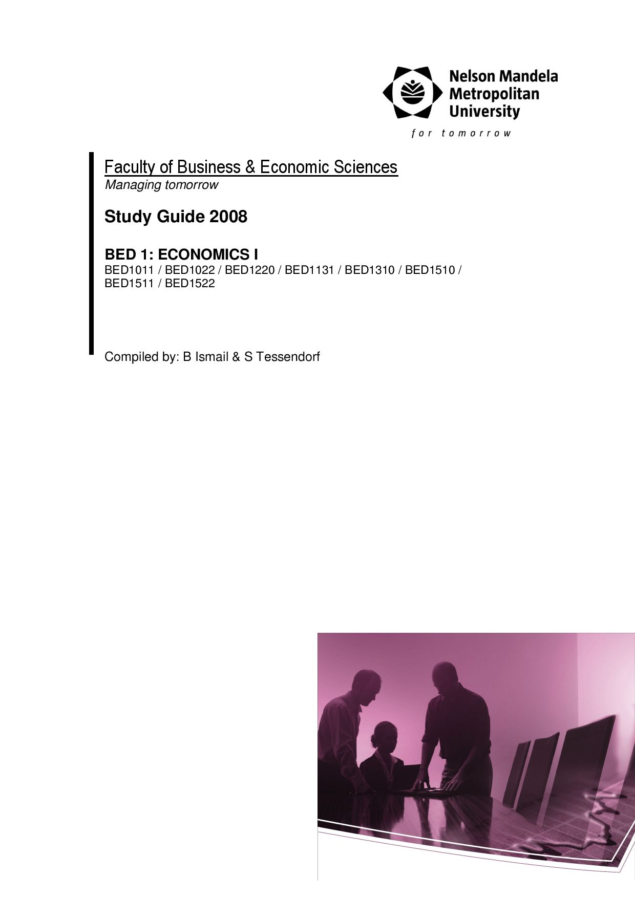 business economics module study guide Ba (hons) degree course in business management with economics at london south bank university (lsbu) full-time includes optional placement year in industry.