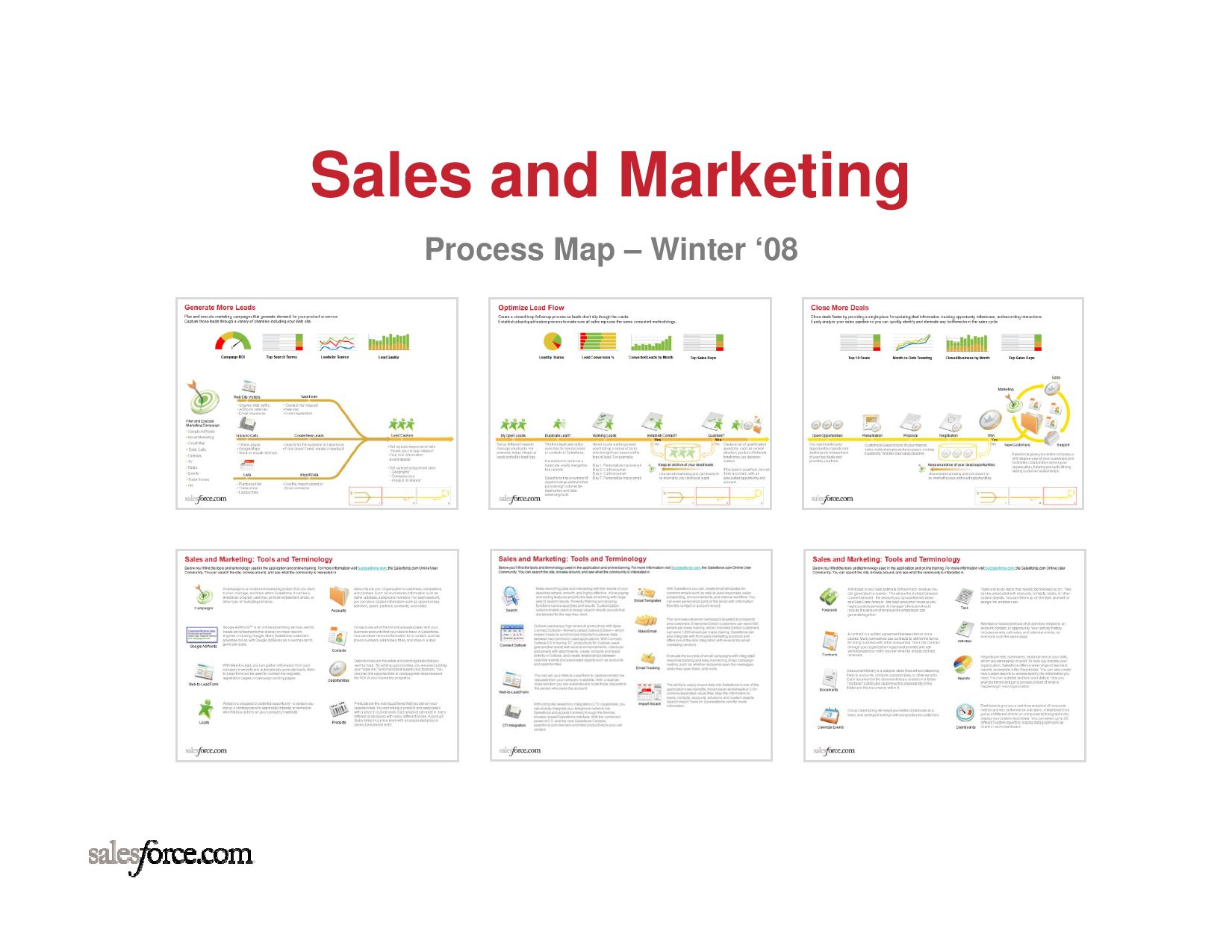 Sales Amp Marketing Process Map By Salesforce Com By