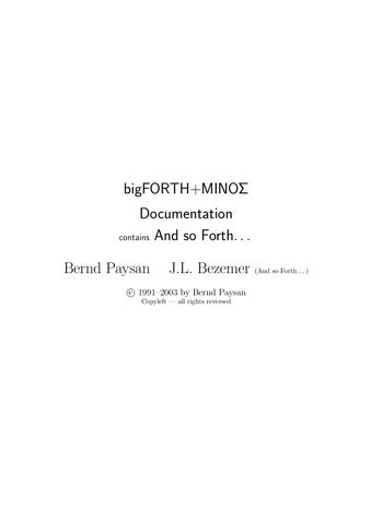 BigForth Manual by zhesto - issuu