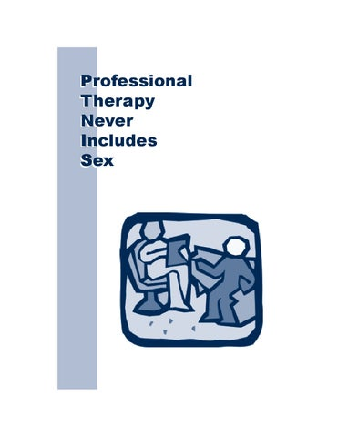 Professional therapy does not include sex