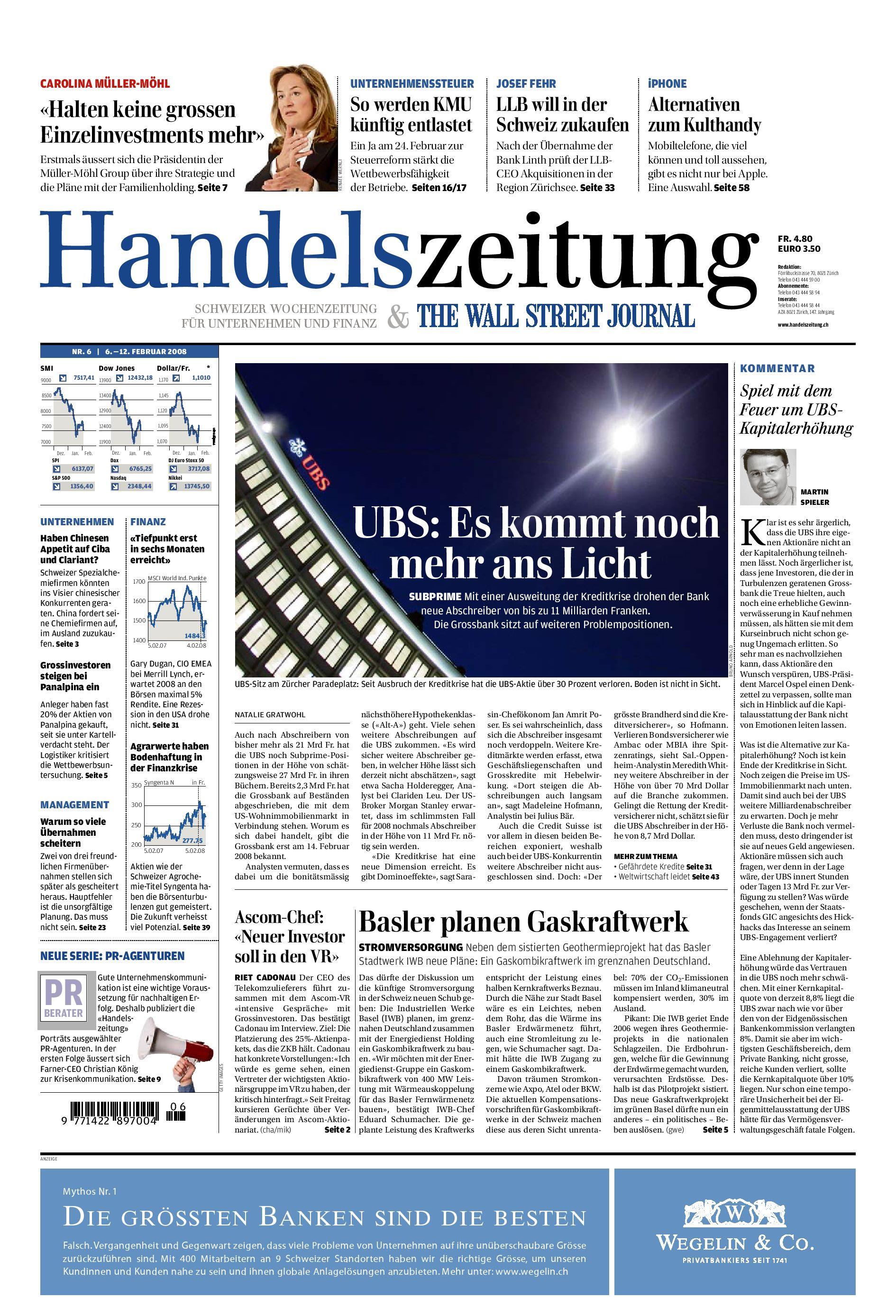 Handelszeitung vom 6. Februar 2008 by christoph - issuu