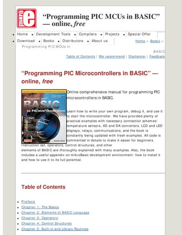 Programming PIC MCUs in Basic by ikevin - issuu