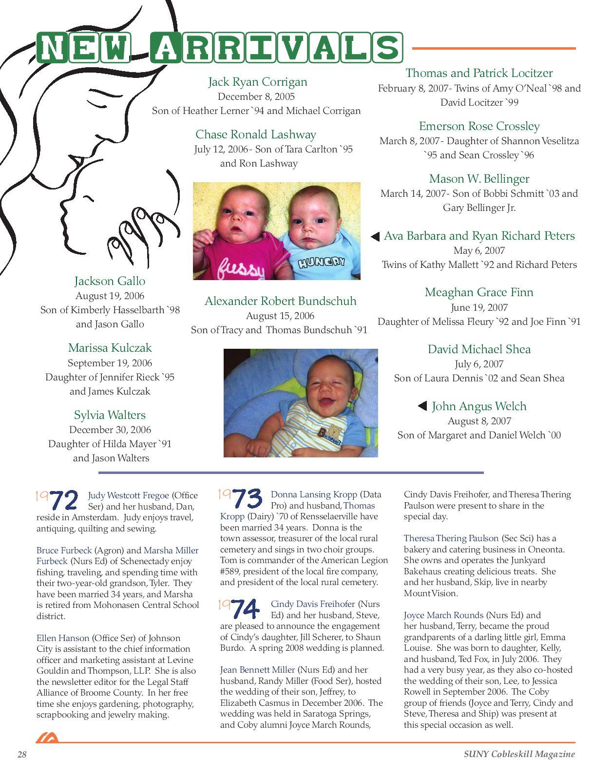 SUNY Cobleskill Magazine - Fall/Winter 2008 by Sona - issuu