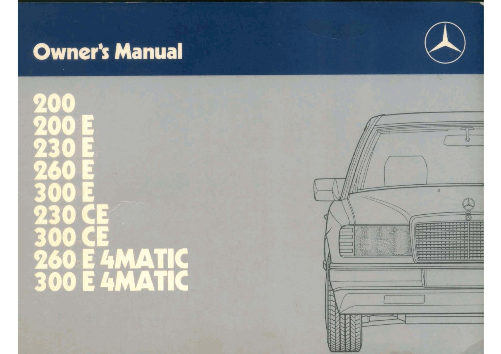 mercedes 300e owners manual by mmamakas issuu. Black Bedroom Furniture Sets. Home Design Ideas