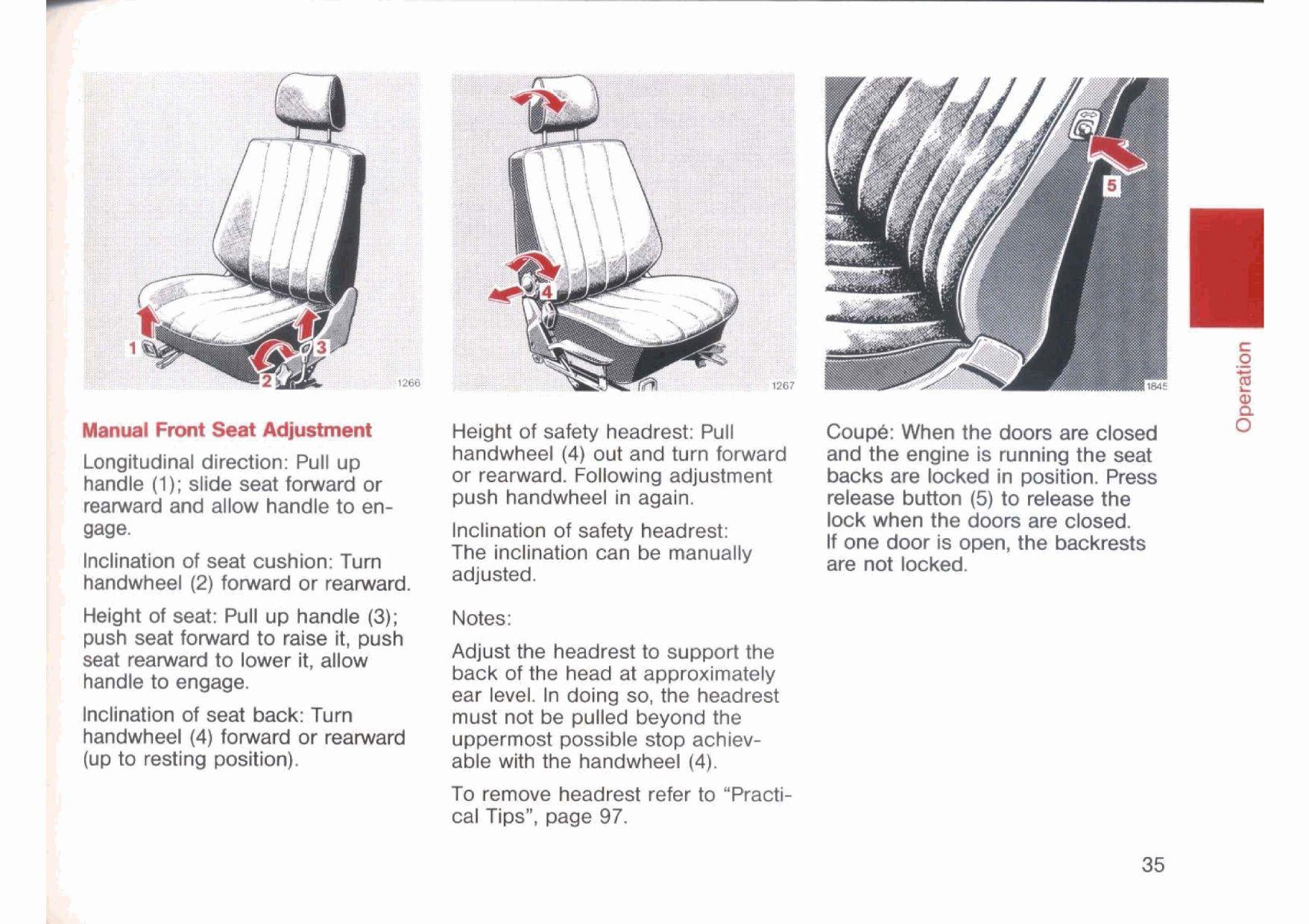 mercedes manual seat adjustment