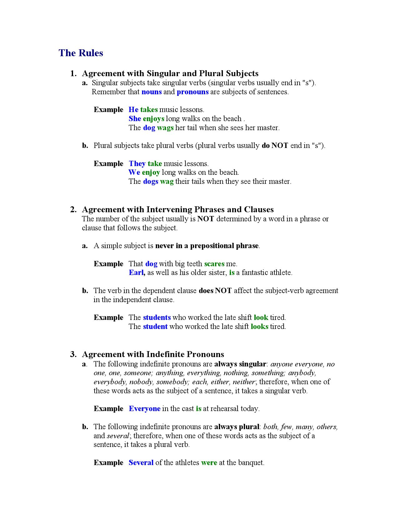 Subject Verb Agreement By Hendersg Issuu