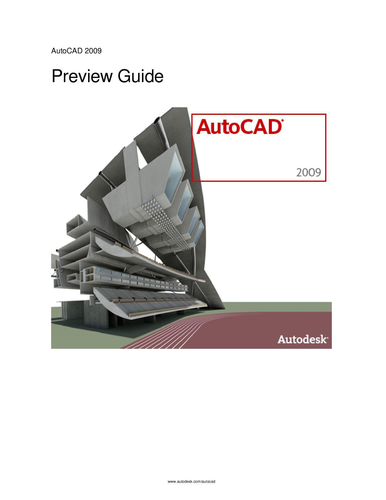 autocad 2009 prewiew guide final by gest issuu rh issuu com AutoCAD 2010 AutoCAD 2007