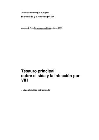 Tesauro Multilingüe Europeo Sobre El Sida By Fernando Issuu