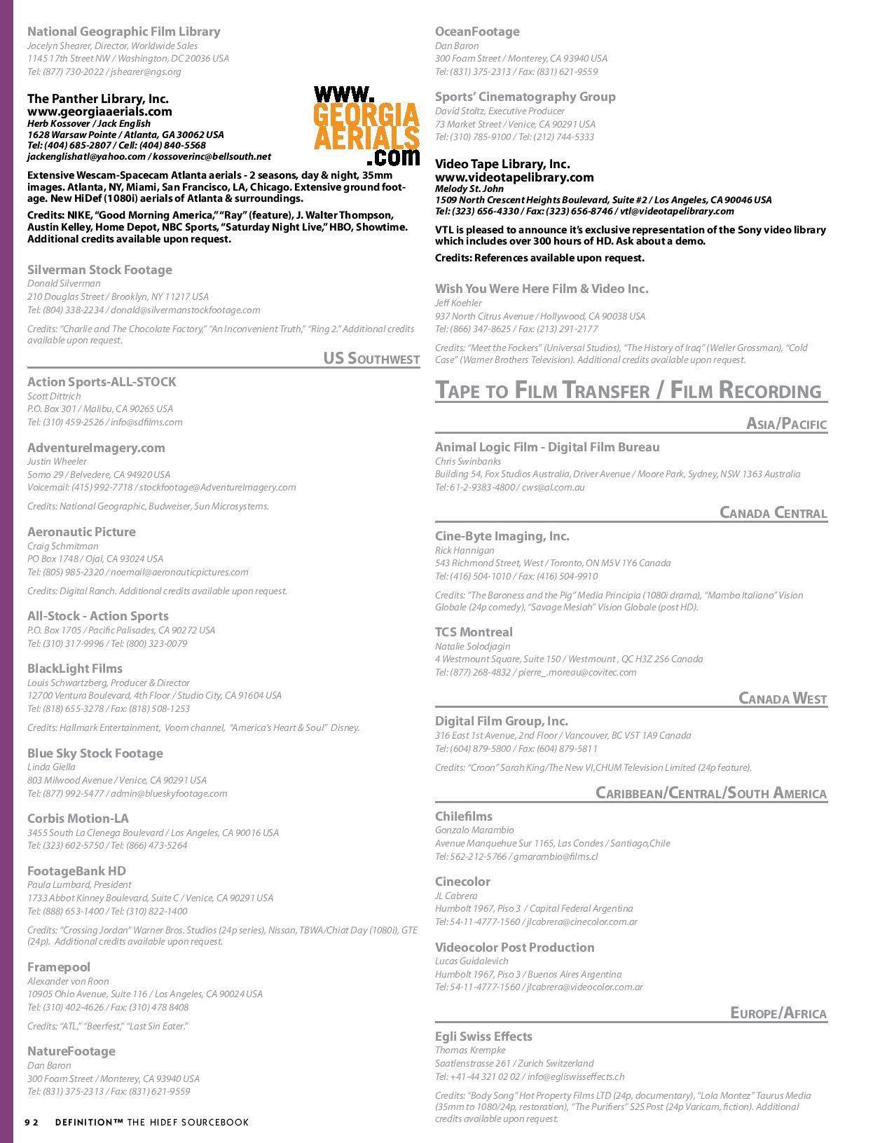 DEFINITION: The Hi-Def Sourcebook by Oz Publishing, Inc - issuu