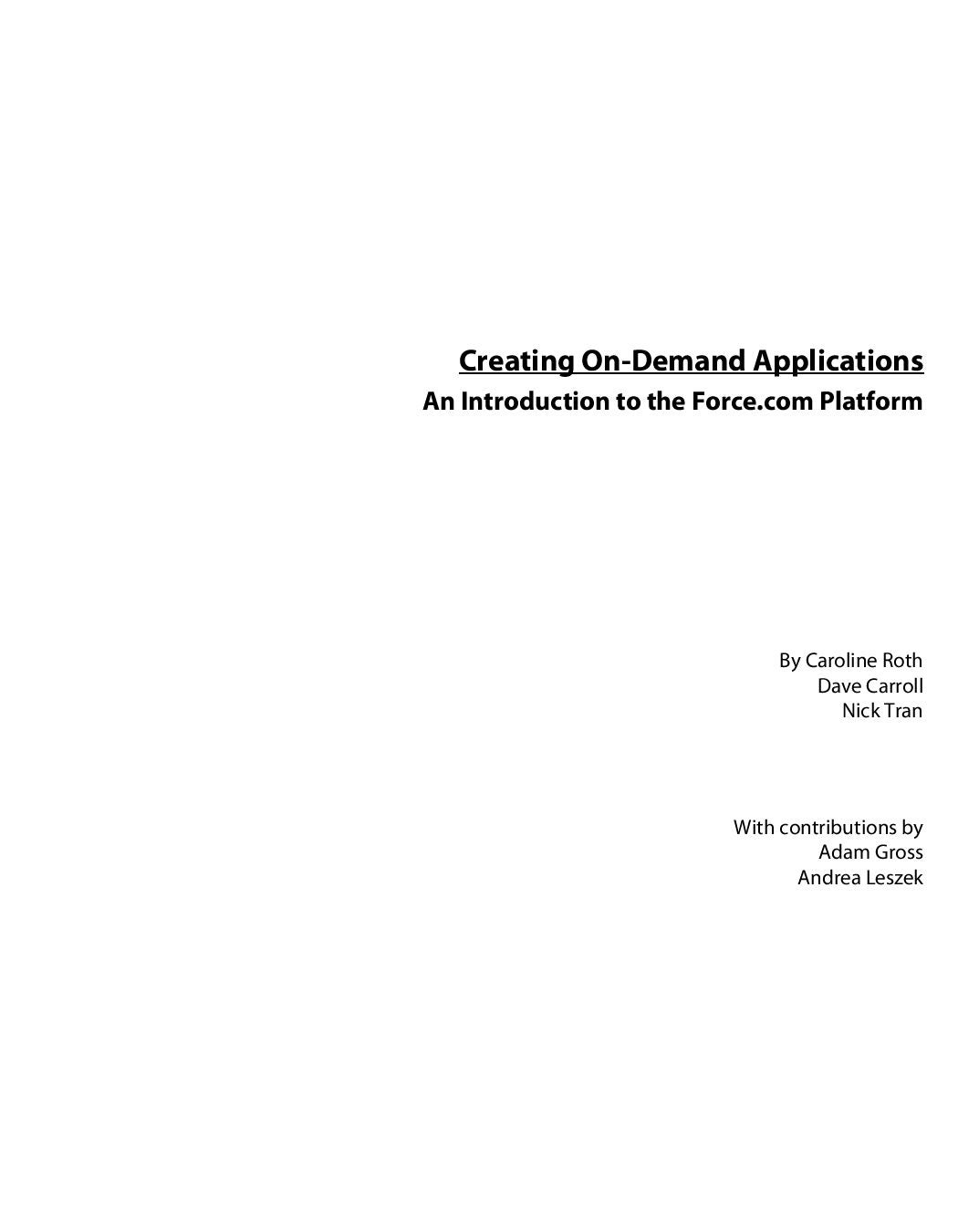 Creating On-demand Applications by mactucket - issuu