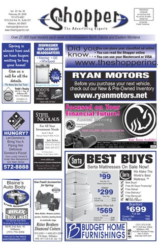 The shopper february 28 2008 by the shopper issuu for Ryan motors in williston nd