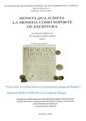 Escritura Latina En La Moneda Hispana By Ventas De Carton Issuu