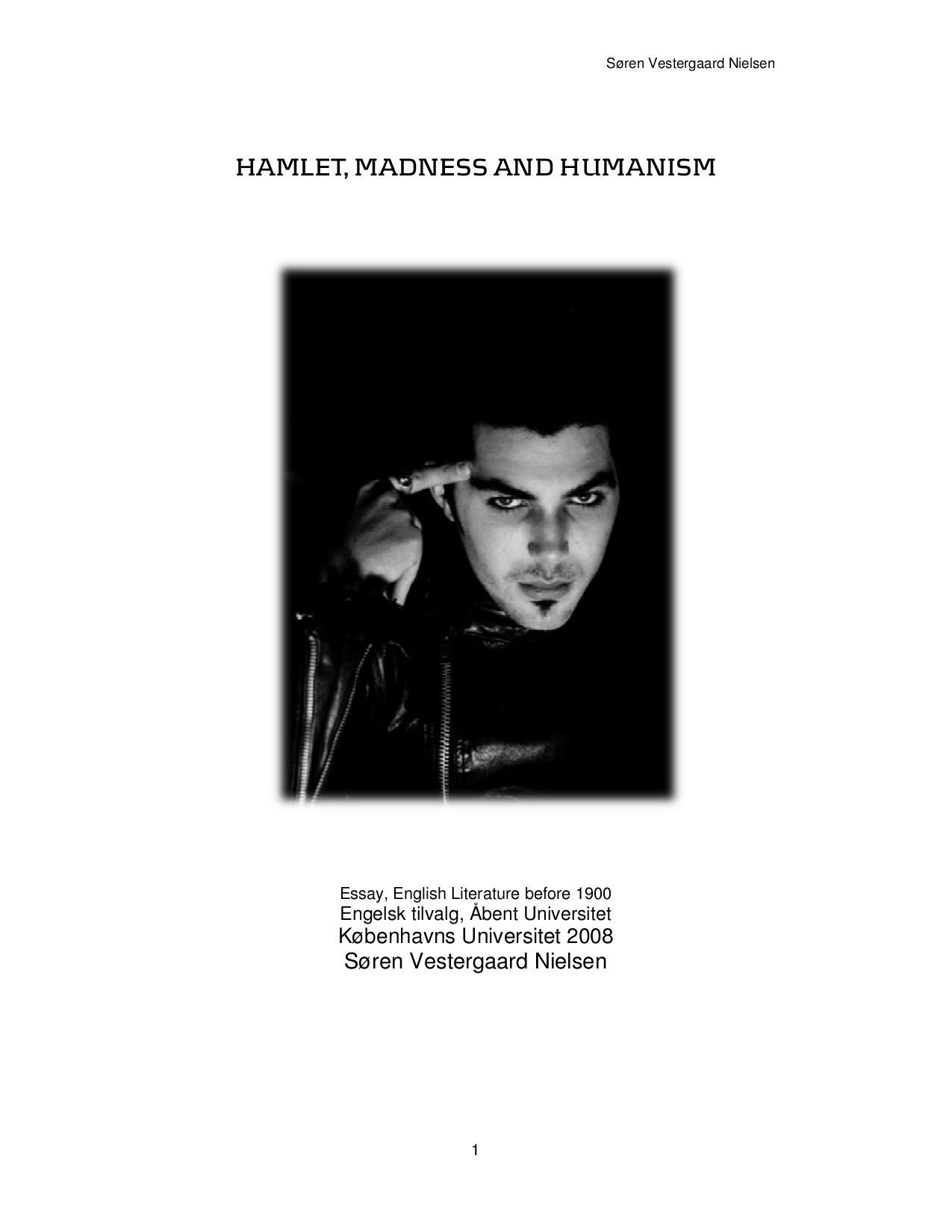 Hamlet part 1 an introduction to elizabethan theater 2 essay