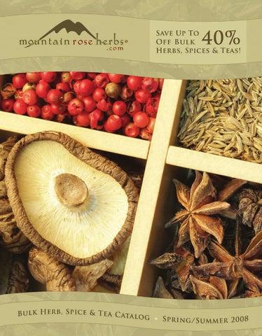 Mountain Rose Herbs Bulk Catalog