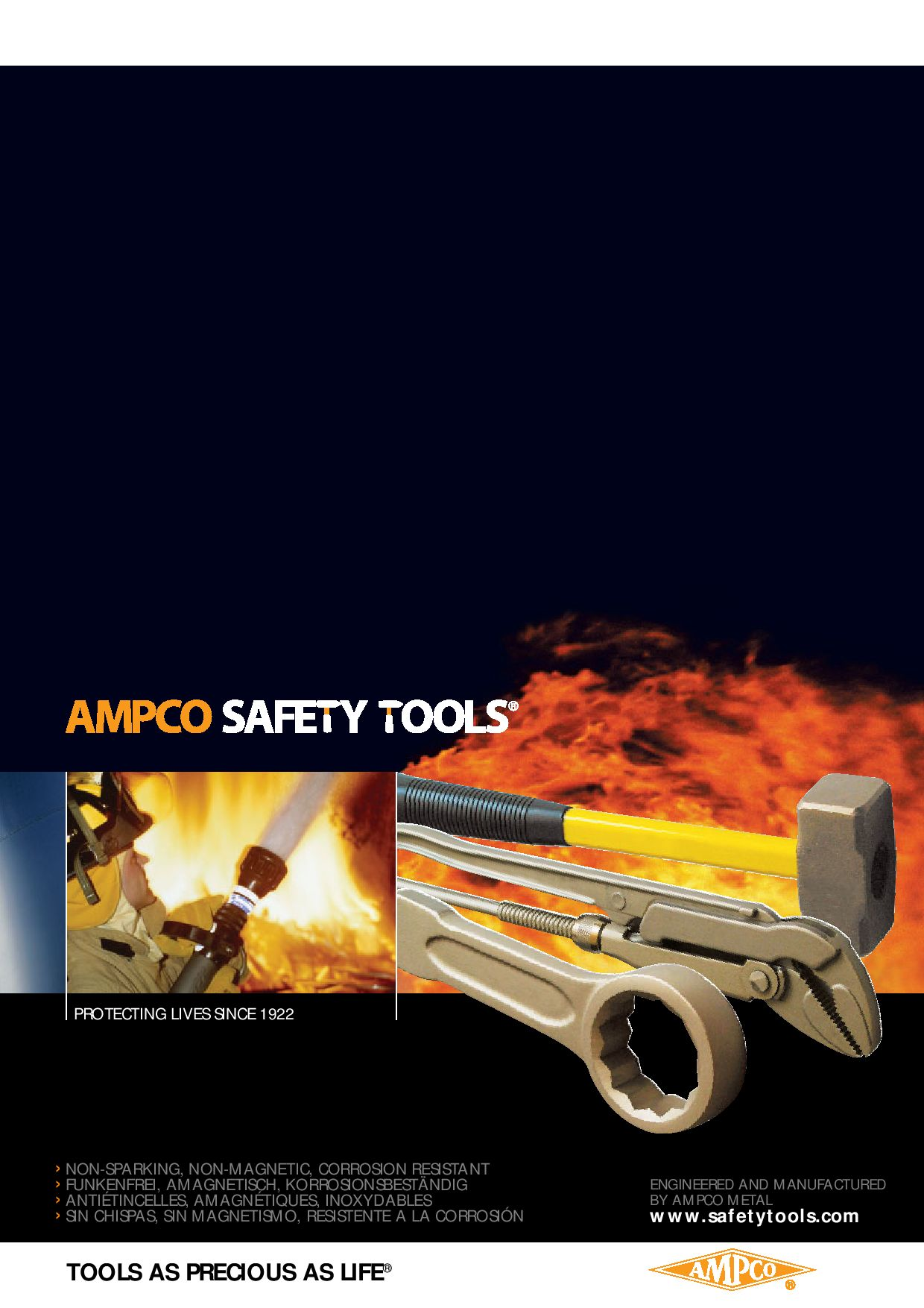 Ampco Safety Tools 1020 Wrench Non-Sparking Non-Magnetic 11 mm x 14 mm Double Box Corrosion Resistant