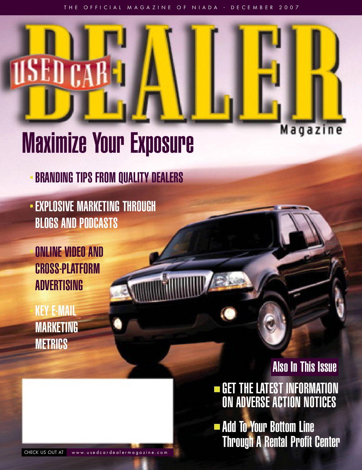 Used Car Dealer December 2007 by TNIADA issuu