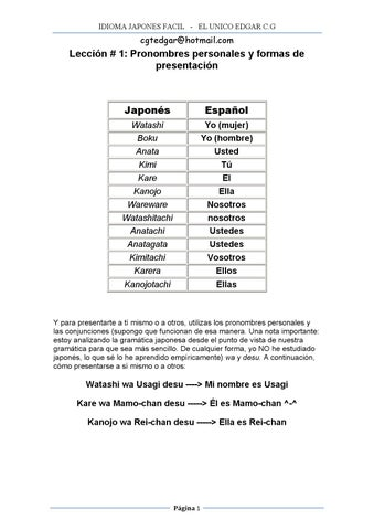 Idioma Japones Facil By Cgtedgar Issuu
