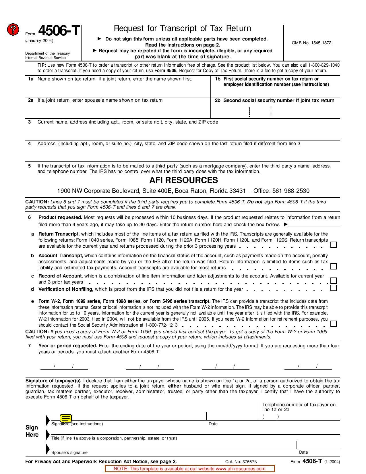 IRS 4506T Form by dmgstuff - issuu