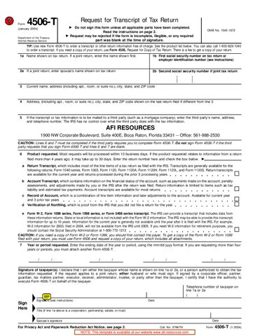 4506 t form irs  IRS 17T Form by dmgstuff - issuu