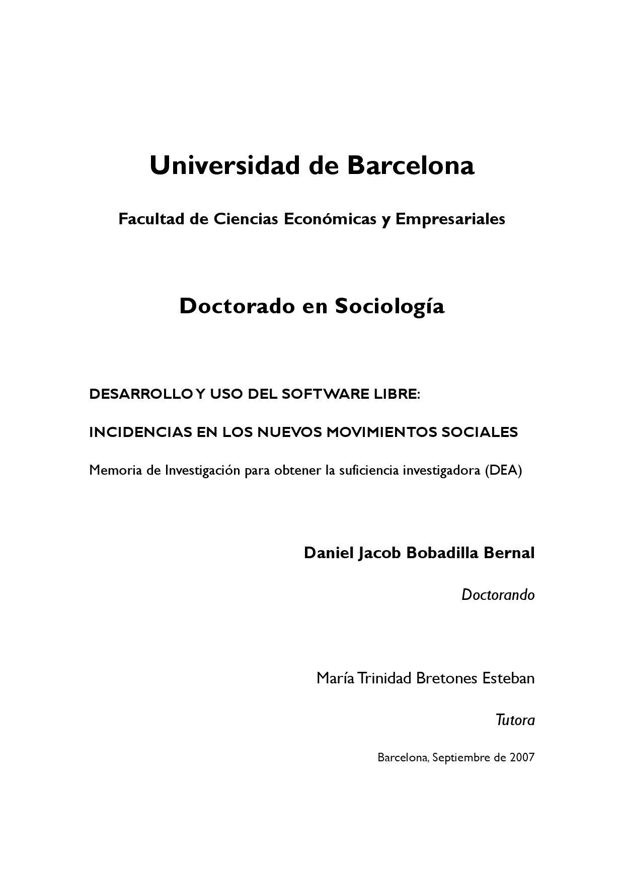 Software Libre Incidencias en Movimientos Sociales by Daniel ...