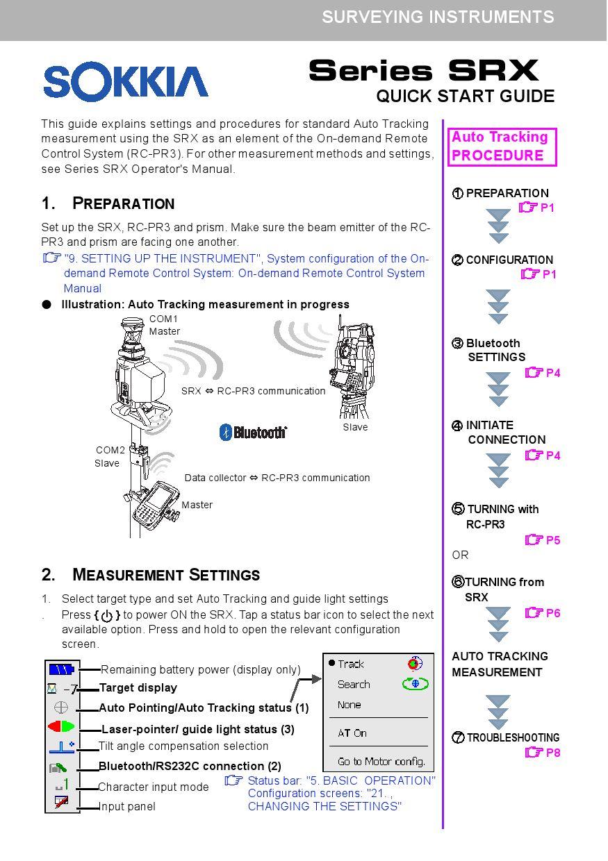 Sokkia Srx Series Manual