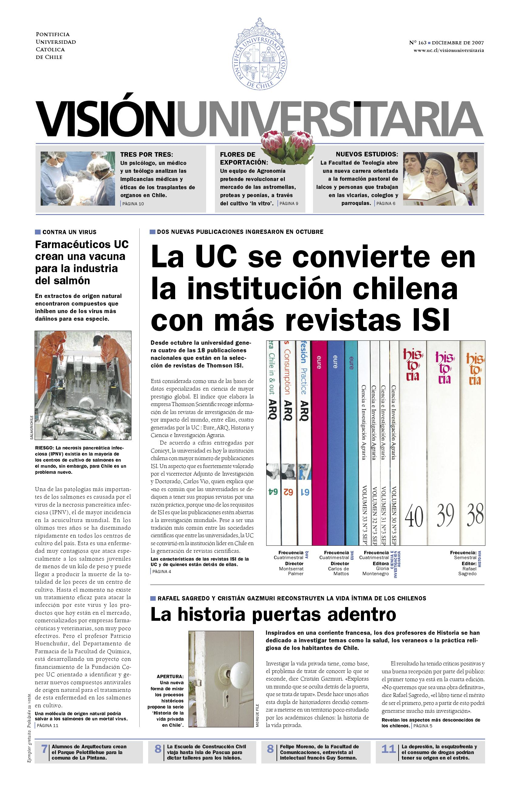 Visión Universitaria Nº 163 by Publicaciones UC - issuu