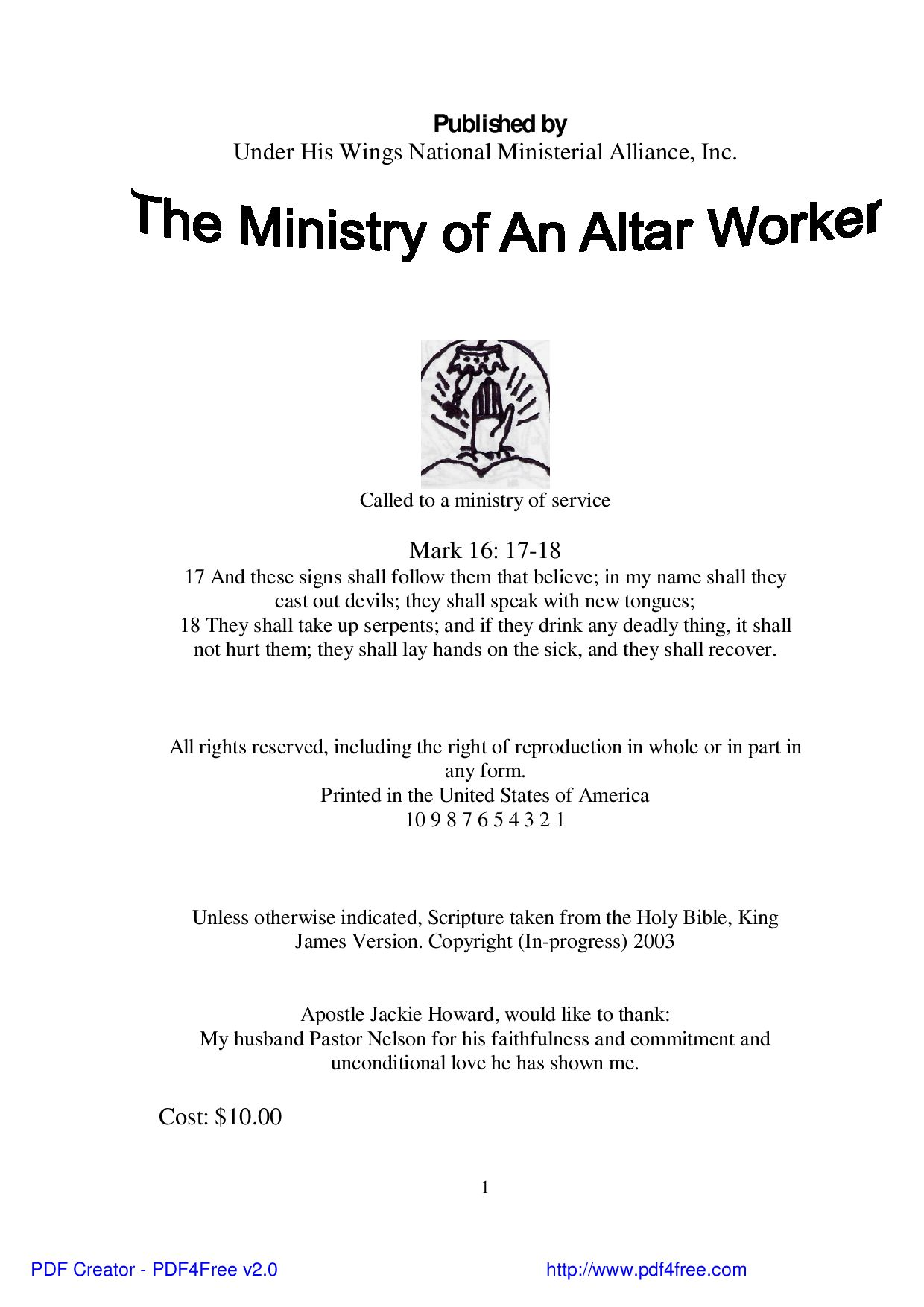 The Ministry of An Altar Worker by Jackie Howard - issuu